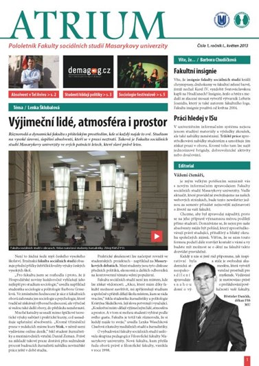 číslo 1 - jaro 2013