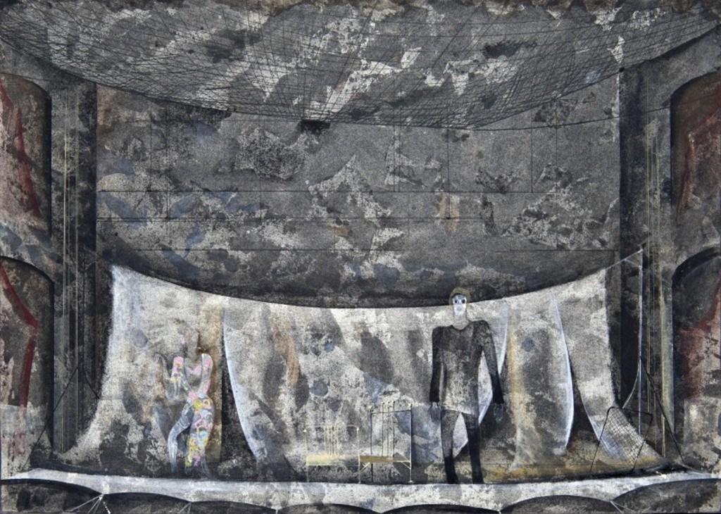 Troilus a Kressida, 1979, Státní divadlo Zdeňka Nejedlého, Ústí nad Labem, scenography: Jaroslav Malina (Scénografická sbírka IDU)