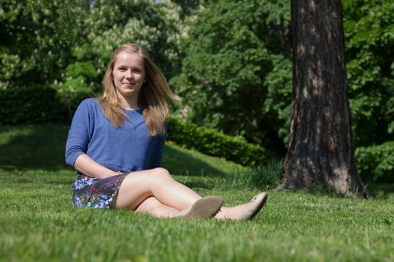 Studentka psychologie Lenka Knapová, která získala ocenění I. A. Bláhy za svou práci. Foto: Jana Sosnová