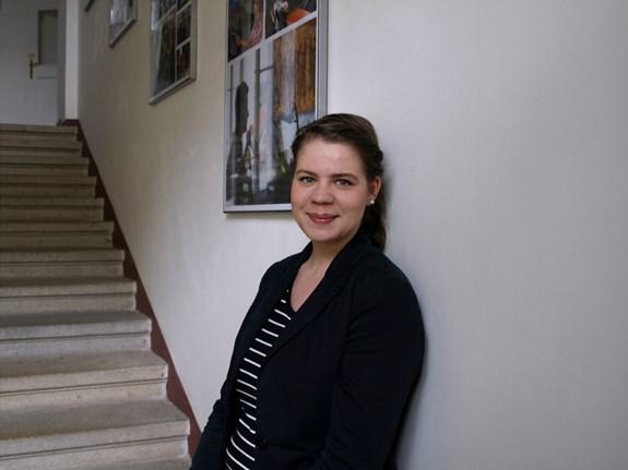 Studentka žurnalistiky Kamila Vlčková vystupuje poslední dva roky s komorním ženským sborem Gloria Brunensis. Foto: Kateřina Picková
