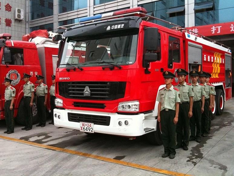 Exkurze v čínské požární stanici. Foto: archiv Jakuba Morávka