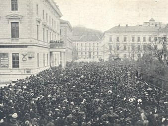 Manifestace za zřízení druhé české univerzity v Brně, 8. 11. 1913
