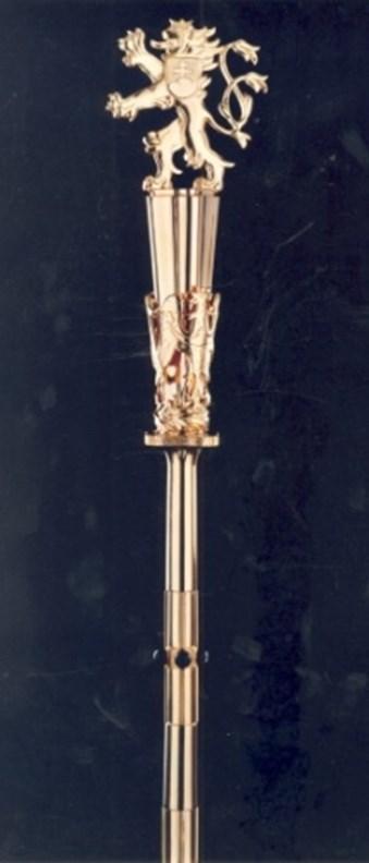 Žezlo rektora Masarykovy univerzity z roku 1938