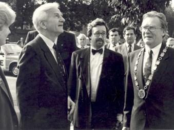 Návštěva prezidenta SRN Richarda von Weizsäckera na Masarykově univerzitě 10. 10. 1991