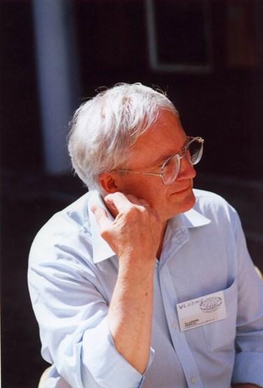 Jediná fotografie sebe sama, na kterou se Vladimír Smékal dívá rád, vznikla na stáži v roce 1991 irském Limericku. Foto: archiv Vladimíra Smékala