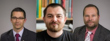 Stanislav Balík, Tomáš Šmíd a Vít Hloušek. Foto: archiv IIPS a archiv katedry politologie