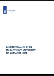 Institucionální plán MU na léta 2016–2018
