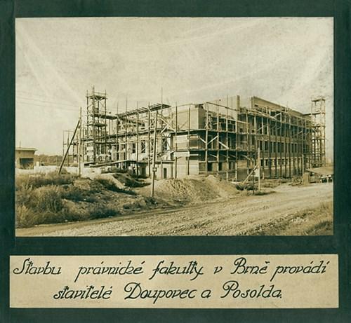 Výstavba Právnické fakulty, závěr 20. let 20. stol.