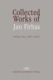Collected Works of Jan Firbas: Volume One