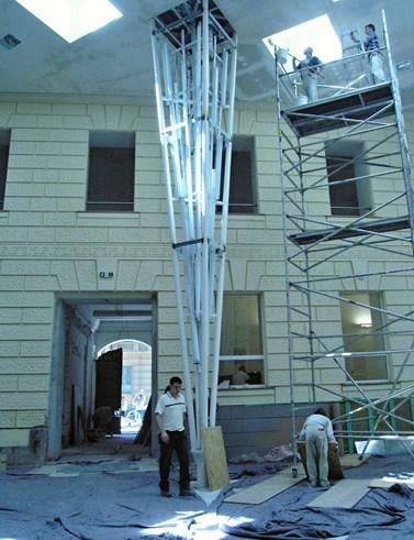 Atrium v době rekonstrukce na jaře 2005. Foto: archiv FSS