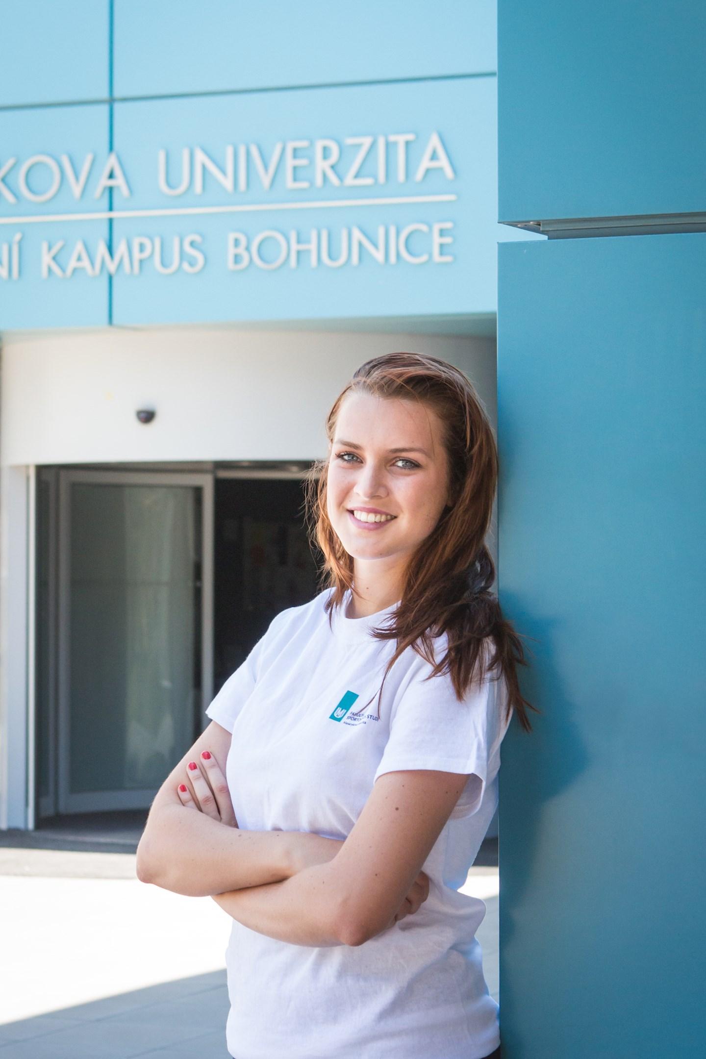 Simona Tvrdá, studentka tělesné výchovy  asportu z Kudlovic