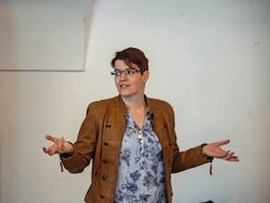 Klára Hübnerová ve Science Café
