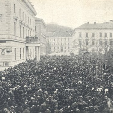 Manifestation for the second Czech university in Brno,  8th November 1913