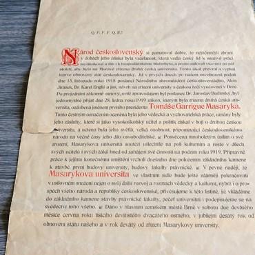 Zakládací listina z roku 1919