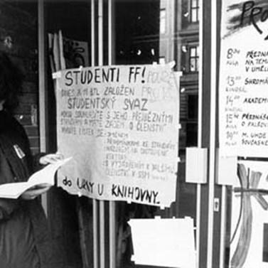 Filozofická fakulta byla centrem stávkového hnutí