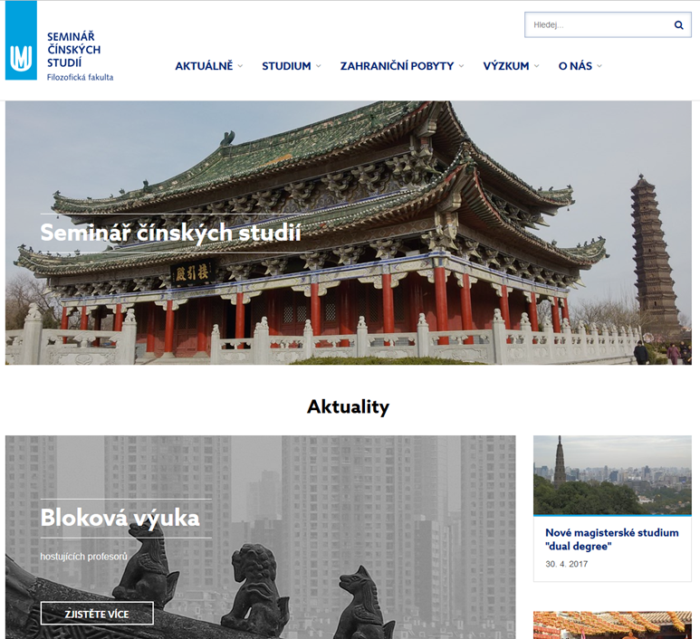 Nové webové stránky Semináře čínských studií