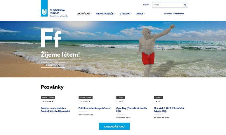 Nové webové stránky Filozofické fakulty