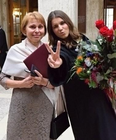 Lenka Hrbková letos úspěšně zakončila doktorské studium. Foto: archiv Lenky Hrbkové