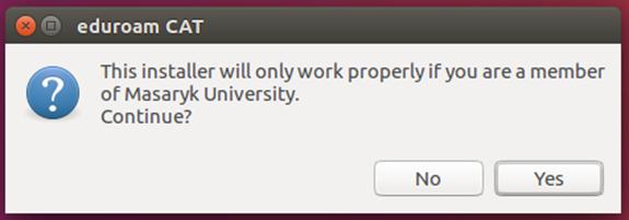 Eduroam for Linux (Ubuntu)   IT services at Masaryk Univesity
