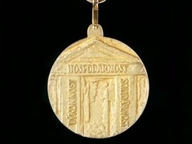 Back side of medal