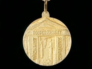 Back side of medal