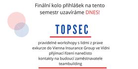 Přihlášky do TopSeCu se uzavírají již dnes