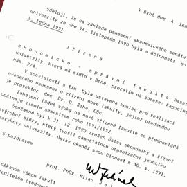 1990 – založení fakulty