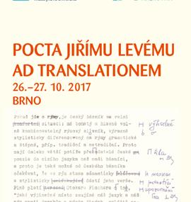 Pocta Jiřímu Levému - Ad translationem