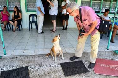 Domluvit se psí řečí zkoušel na jednom z Cookových ostrovů jménem Ratonga. Foto: archiv Jiřího Pavelky