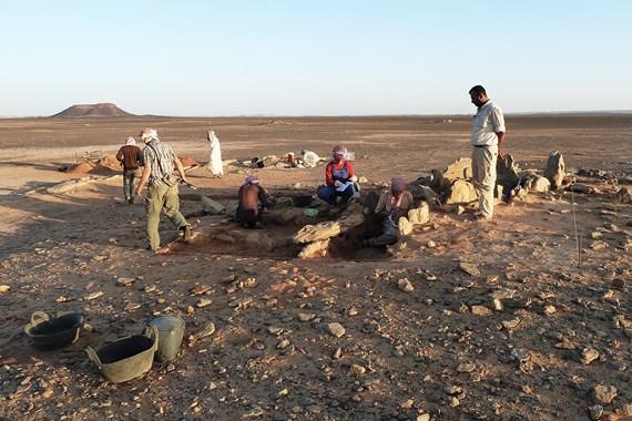 Jordánsko 2014: 'Ainab 1, The Eastern Jafr Archaeological Project (ex oriente e.V., Freie Universität Berlin), autor: Christoph Purschwitz (Freie Universität Berlin)