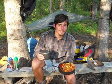 Albert Fikáček na výpravě v kanadském lese. Foto: archiv Alberta Fikáčka