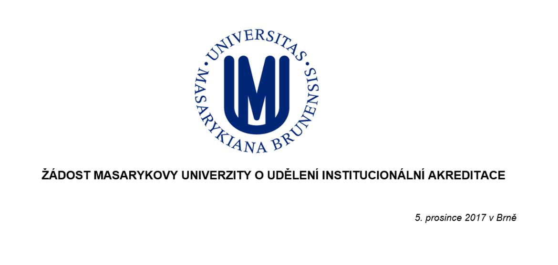 Žádost o institucionální akreditaci