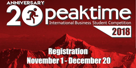 Peak Time 2018 - international business competition for students