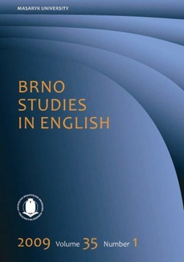 Brno Studie in English – cover