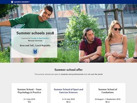 Summer Schools 2018 Organized by Faculty of Sports Studies, Masaryk University