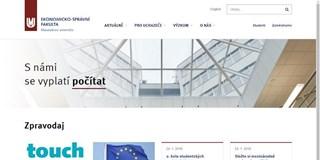 Spustili jsme nový web Ekonomicko-správní fakulty