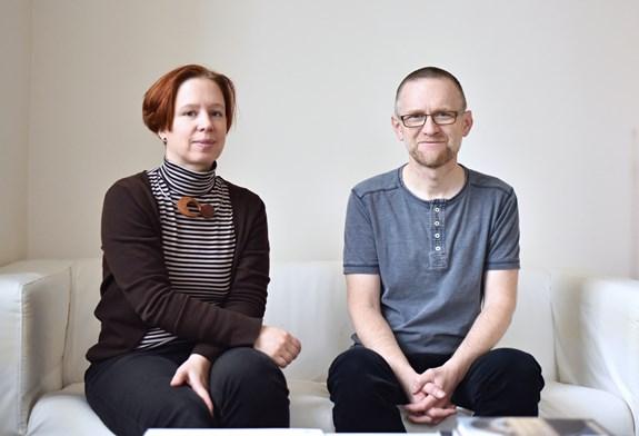 Csaba Szaló a Iva Šmídová se v lednu sešli se studujícími genderových studií a promluvili o změnách, které obor čekají. Foto: Veronika Krejčí