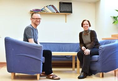 Csaba Szaló a Iva Šmídová spolu často probírají vznik specializace genderových studií. Foto: Veronika Krejčí