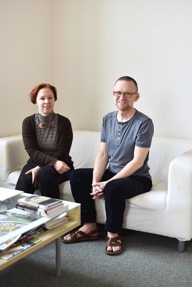 V lednu se Iva Šmídová a Csaba Szaló sešli se studujícími. Foto: Veronika Krejčí