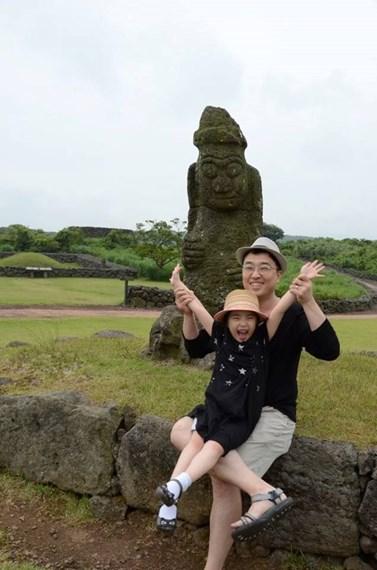 Společně s dcerou se Kim vydal i na Island. Foto: archiv Tae-Sik Kima