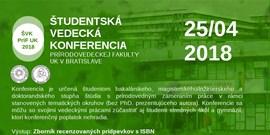 Studentská vědecká konference PriF UK 2018