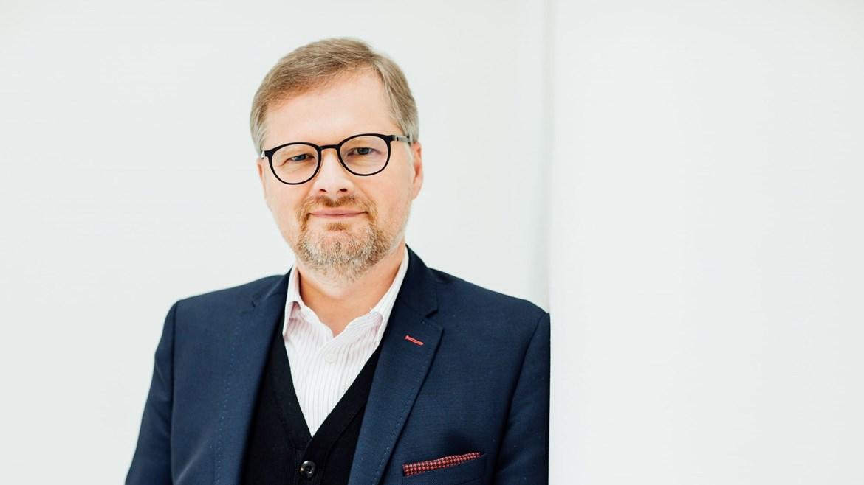 Petr Fiala, host debaty po filmu TGM Osvoboditel, 27. února 2018
