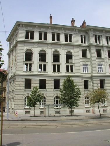 Rekonstrukce budovy v Joštově ulici začaly v roce 2003. Foto: archiv FSS