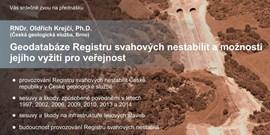 Geodatabáze Registru svahových nestabilit a možnosti jejího využití pro veřejnost