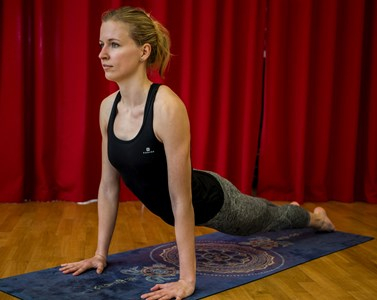 Při cvičení se Novotná snaží soustředit jen na své tělo. Foto: Matej Hudák