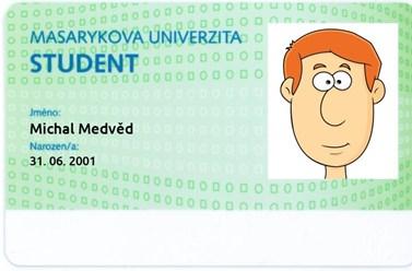 Ukázka průkazu studenta kombinovaného studia
