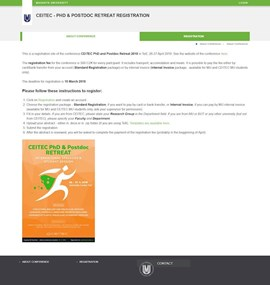 CEITEC - PhD & Postdoc Retreat Registration
