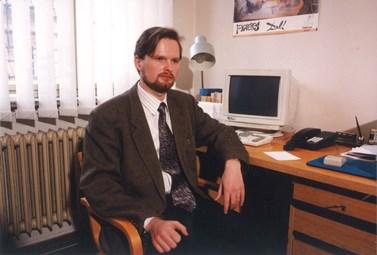 V devadesátých letech začal Petr Fiala vyučovat politologii na filozofické fakultě. Foto: archiv Petra Fialy