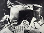 Poválečný stav budov fakulty. Zdroj: Digitální knihovna fotografií MU.