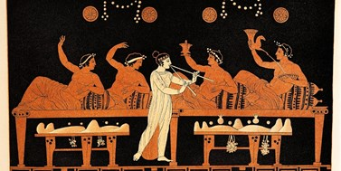 Love, Wine, and Muses: Central themes in archaic Greek poetry
